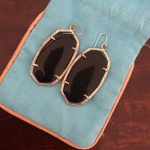 Kendra Scott Black (Danielle) Drop Earrings
